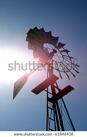 An old windmill waiting for a breeze.