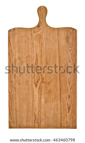 An old wooden baking board