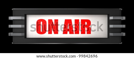 On Air Sign Art Deco Style Stock Illustration 99842696 - Shutterstock