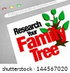 An online database for researching your family tree and heritage on a website library of historical records - stock photo
