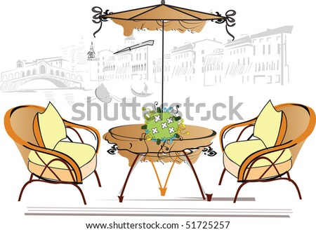 an open-air cafe