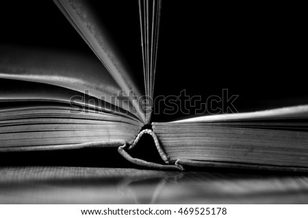an open book 1