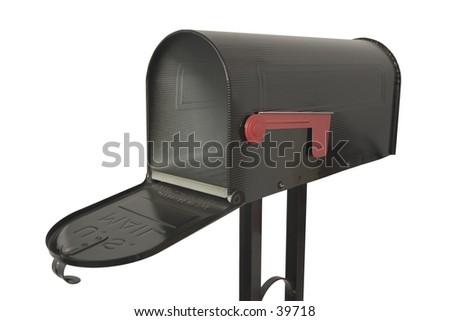 An open mailbox. - stock photo