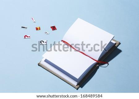 an open notebook - stock photo