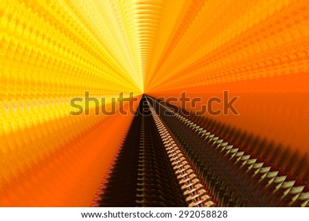 An Orange background abstract spiral. - stock photo