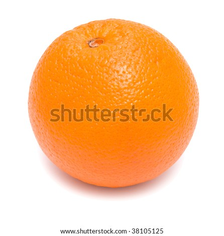 an orange isolated on white