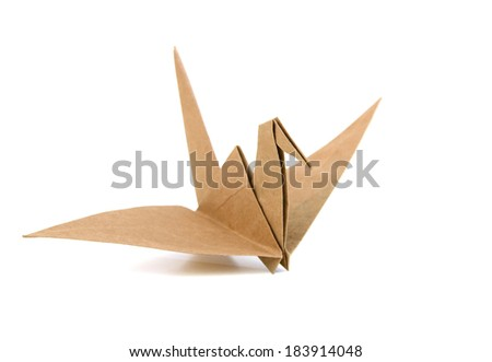 An origami bird - stock photo