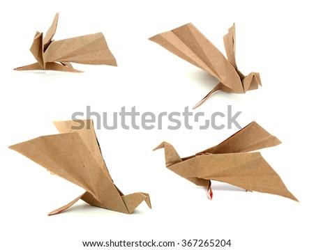 An origami bird - stock photo