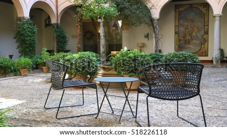 An outdoor table of Restaurant