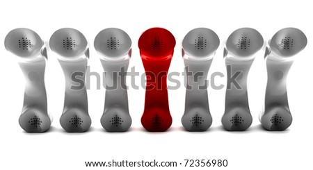 An outstanding telco among the crowd. 3D render - stock photo