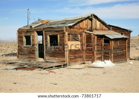 "an real ""Ghost Town"" in Nevada usa with the original buildings and Things from the 1800's mining town - stock photo"