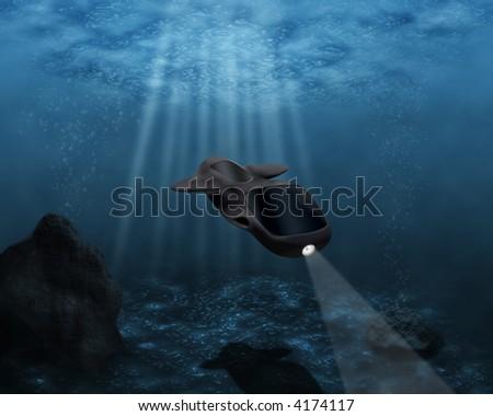 An underwater landscape - stock photo