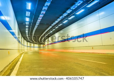 an urban tunnel