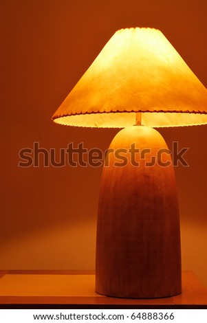 An warm and classical wooden lamp in Thailand