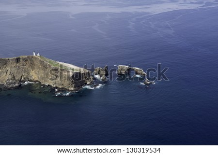 Anacapa Island, Ventura County, California, Aerial View - stock photo