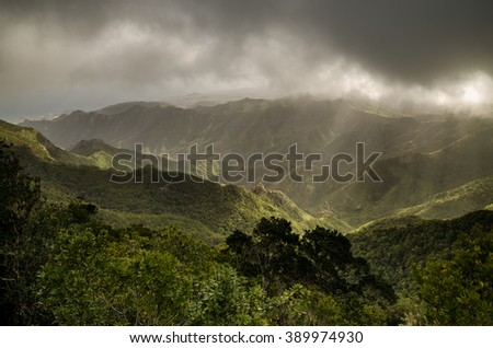 Anaga Mountains on Clouds