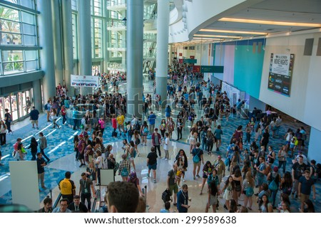 Anaheim, CA - June 23: The 6th annual VidCon conference for YouTube creators, industry experts and fans at the Anaheim Convention Center in Anaheim, California on June 23, 2015