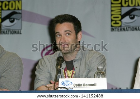 ANAHEIM, CA - MARCH 31: Colin Donnell participates in a panel discussion at the 2013 Wondercon convention on March 31, 2013 in Anaheim, CA.