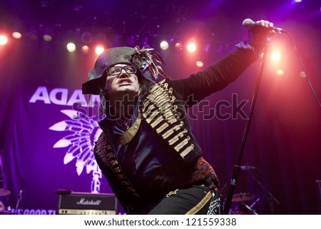 ANAHEIM, CA - OCT 20: Adam Ant performs at The Grove on October 20, 2012 in Anaheim, California. - stock photo