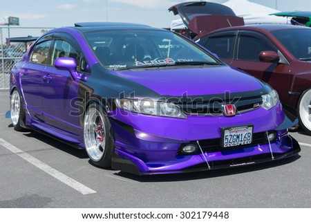 Anaheim, CA, USA - August 1, 2015: Honda Civic Si car on display during Auto Enthusiast Day car show.