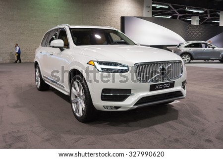 Anaheim - USA - October 15, 2015: Volvo XC 90 during Orange County International Auto Show.