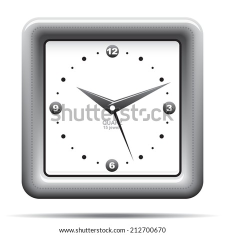 Analog clock icon illustration raster version - stock photo