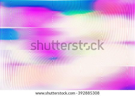 Analog Screen Glitch Texture - stock photo