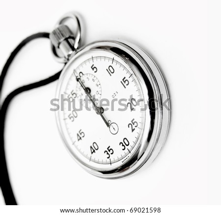 Analog stop watch (it is made in the USSR) - stock photo