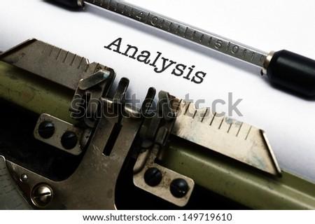 Analysis - stock photo