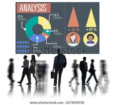 Analysis Analytic Marketing Sharing Graph Diagram Concept - stock photo