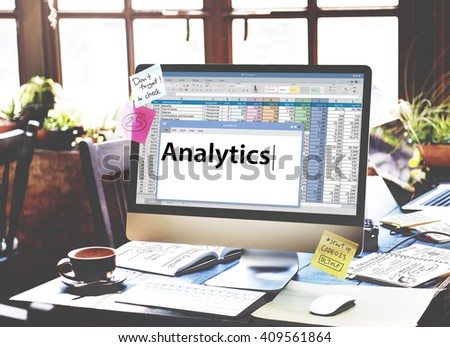 Analysis Analytics Information Data Study Concept - stock photo
