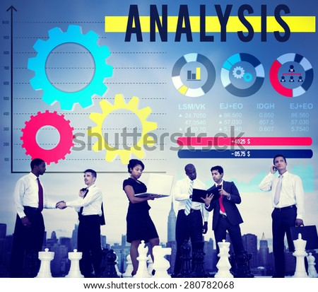 Analysis Analyze Business Information Data Concept - stock photo