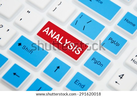 Analysis button on a computer keyboard