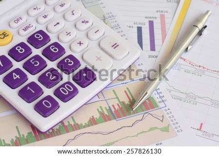 Analysis charts and graphs of sales - successful corporate business - stock photo
