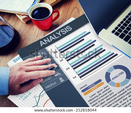 Analysis Data Information Thinking Connecting Networking Concept - stock photo
