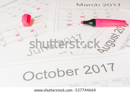 Analysis of a calendar and allocation of date