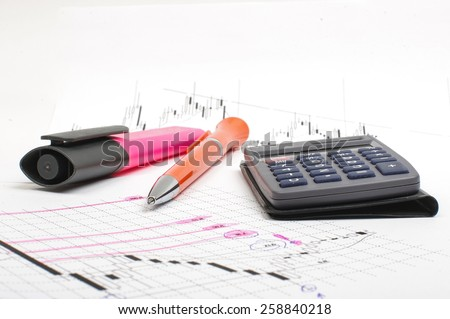 Analysis of Forex foreign exchange market - stock photo