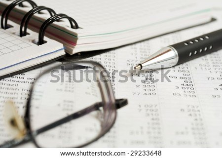 Analysis of the financial information. - stock photo