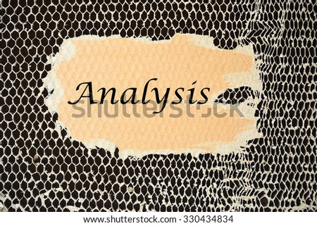 Analysis on paper torn - stock photo