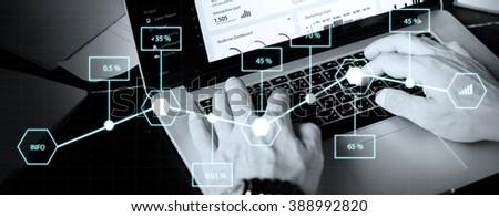 Analysis Statistic Information Percentage Economy Concept - stock photo