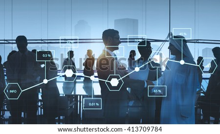 Analysis Statistic Information Percentage Economy Concept - stock photo