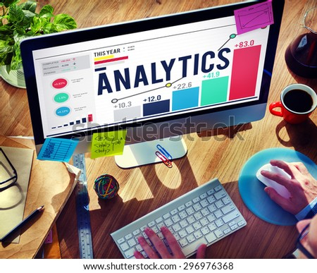 Analytics Data Analysis Strategy Statistic Concept - stock photo