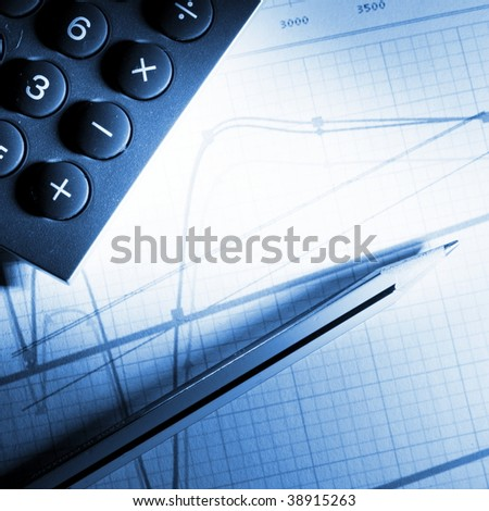 analyzing financial business chart or diagram from stock market