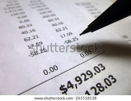 Analyzing Financial Data - stock photo