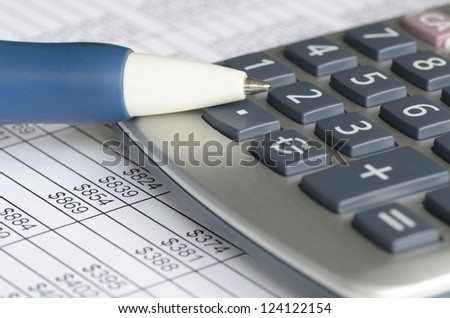 Analyzing financial data concept of accounting and auditing - stock photo