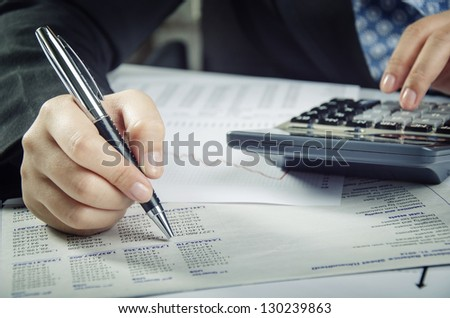 Analyzing financial report