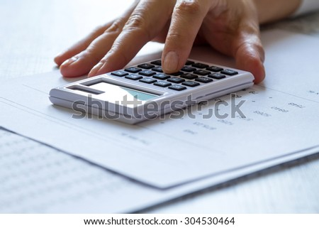 Analyzing numbers and doing calculations at the office 