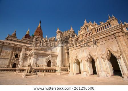 Ananda Temple in blue sky , Bagan, Myanmar.  - stock photo