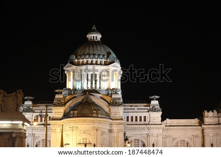 Ananta Samakom Throne Hall at night