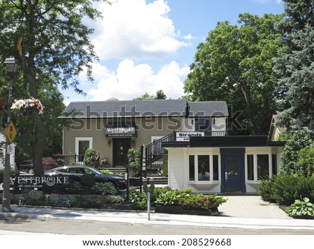 ANCASTER, ONTARIO - JULY 31, 2014: Shop. Ancaster is a picturesque and historic community located on the Niagara Escapement, within the greater area of the city of Hamilton, Ontario, Canada.